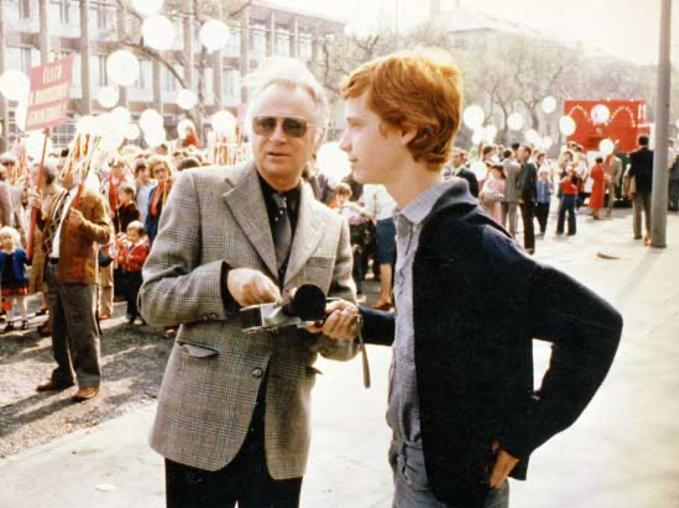 Amir Kishon with Father Ephraim Kishon